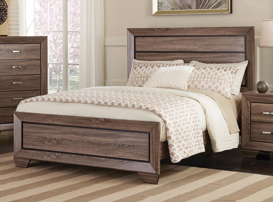 Kauffman Transitional Washed Taupe Eastern King Bed image
