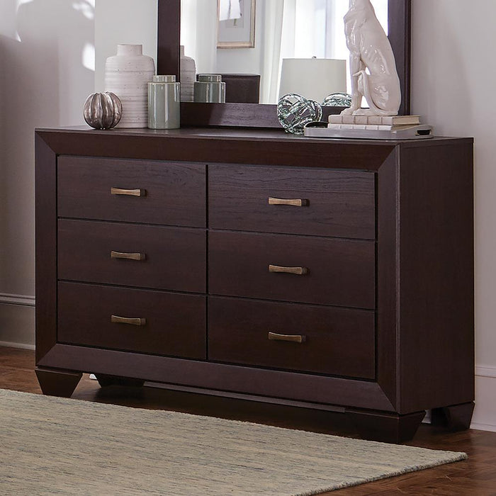Fenbrook Dark Cocoa Six-Drawer Dresser image