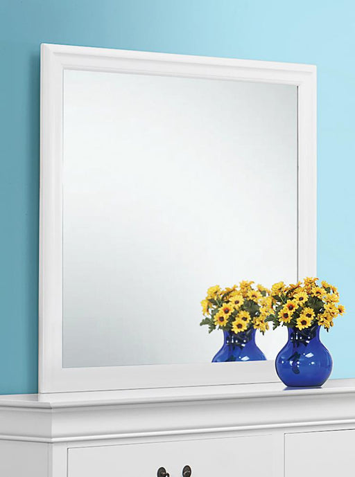 Louis Philippe White Dresser Mirror With Beveled Edge image