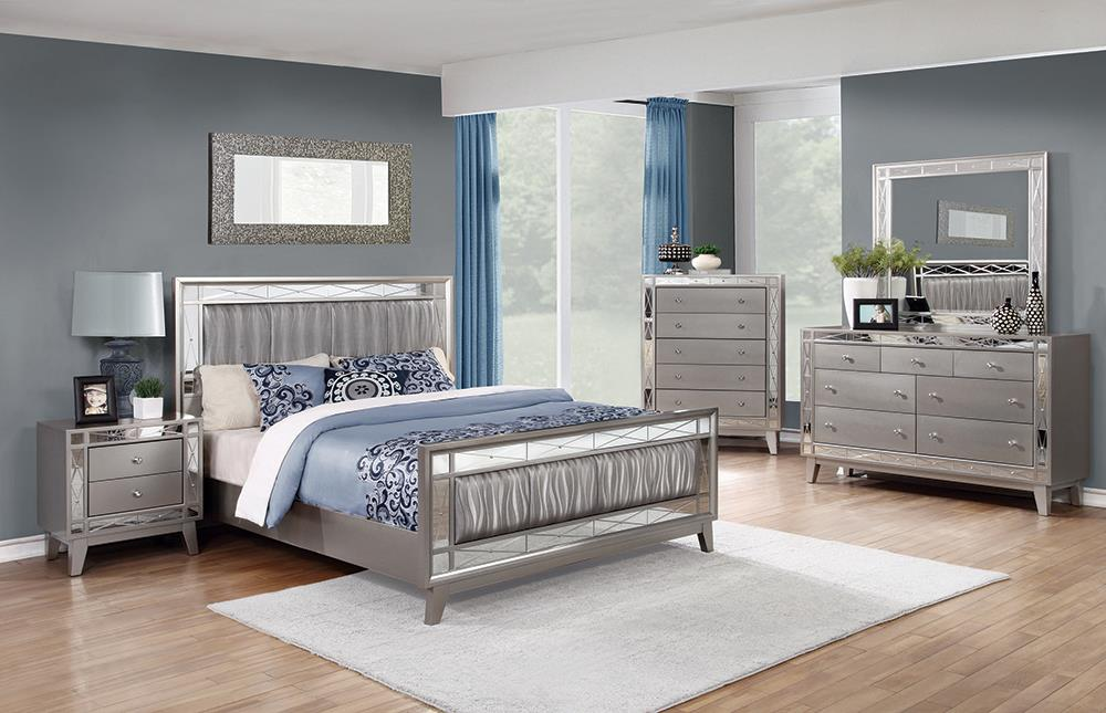 Leighton Contemporary Metallic Eastern King Five-Piece Set image