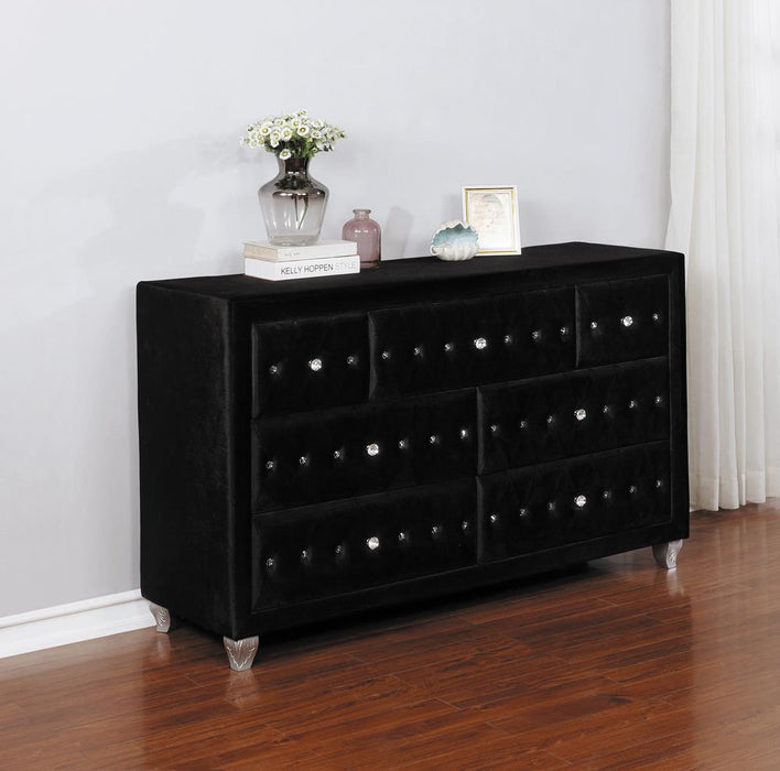 Deanna Contemporary Black and Metallic Dresser image