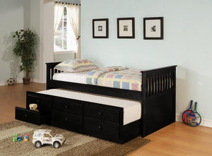 Transitional Black Twin Daybed