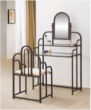 Load image into Gallery viewer, Contemporary Beige and Metal Vanity