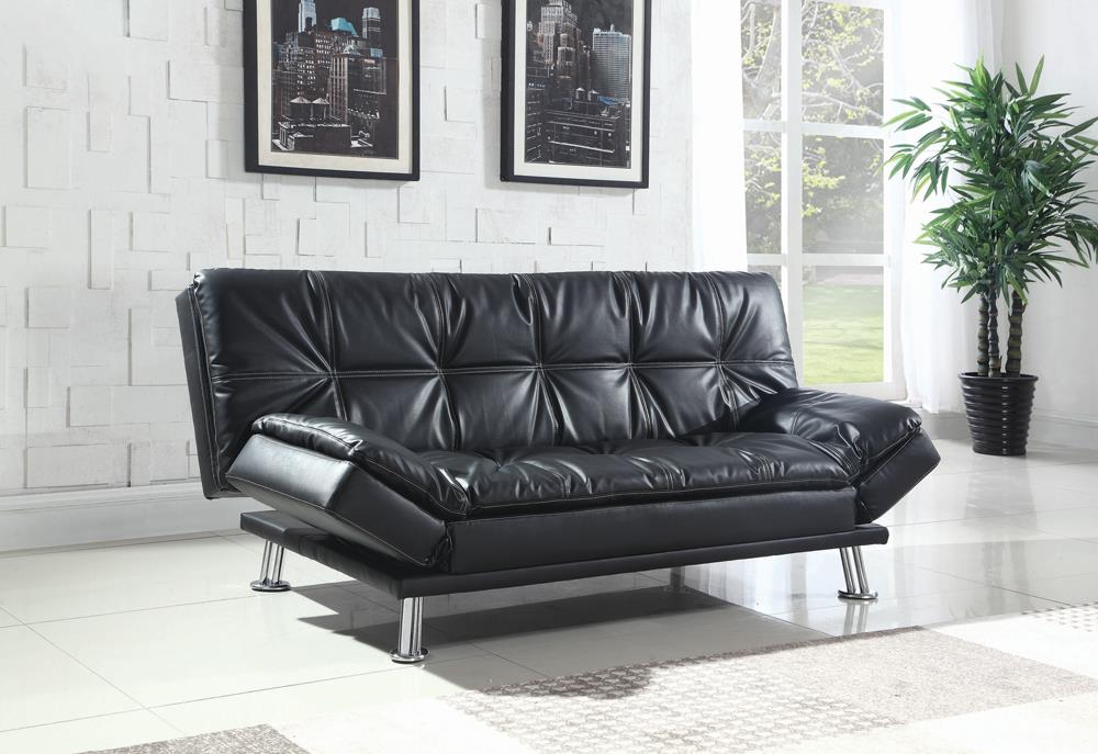Dilleston Contemporary Black Sofa Bed image