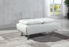 Load image into Gallery viewer, Dilleston Contemporary White Ottoman