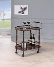 Load image into Gallery viewer, Recreation Room Traditional Merlot Serving Cart