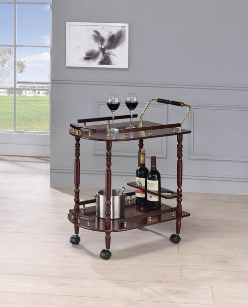 Recreation Room Traditional Merlot Serving Cart image