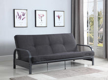 Load image into Gallery viewer, Dark Grey Metal Futon Frame
