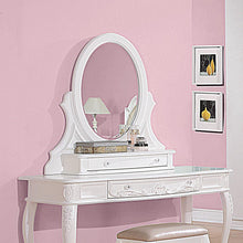 Load image into Gallery viewer, Caroline White Vanity Mirror