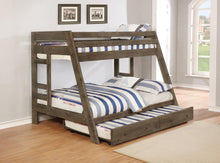 Load image into Gallery viewer, Wrangle Hill Twin-over-Full Bunk Bed
