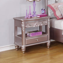 Load image into Gallery viewer, Caroline Metallic Lilac Nightstand