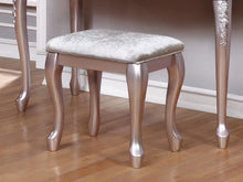 Load image into Gallery viewer, Caroline Metallic Lilac Vanity Stool