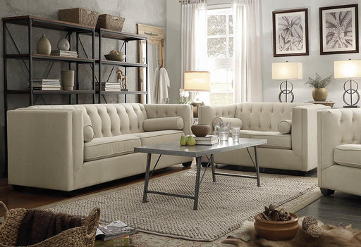 Cairns Transitional Beige Two-Piece Living Room Set image