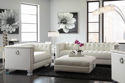 Chaviano Contemporary White Two-Piece Living Room Set image