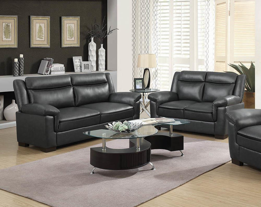 Arabella Brown Faux Leather Two-Piece Living Room Set image