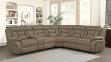 Load image into Gallery viewer, Camargue Casual Tan Motion Sectional