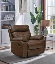 Load image into Gallery viewer, Damiano Brown Faux Leather Recliner