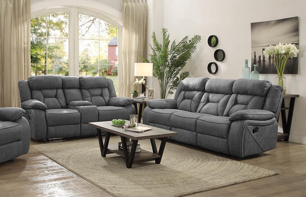 Houston Casual Stone Reclining Two-Piece Living Room Set image