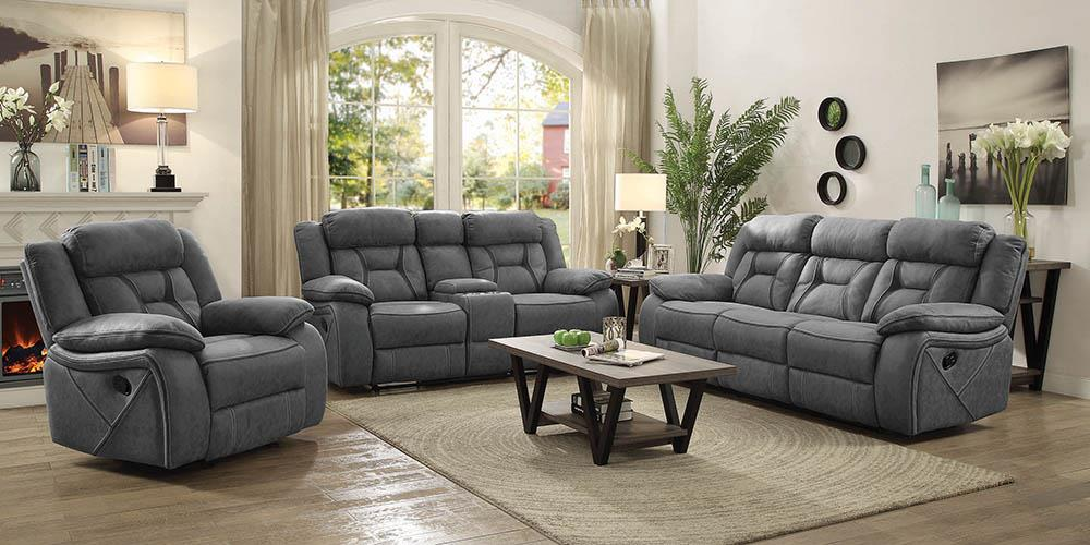 Houston Casual Stone Reclining Three-Piece Living Room Set image