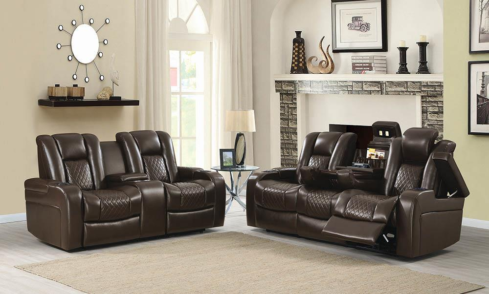 Delangelo Brown Power Motion Two-Piece Living Room Set image