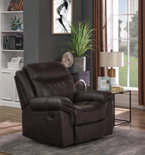 Load image into Gallery viewer, Sawyer Transitional Brown Glider Recliner