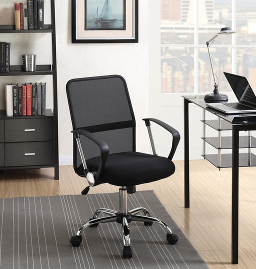 Modern Black Mesh Back Office Chair image