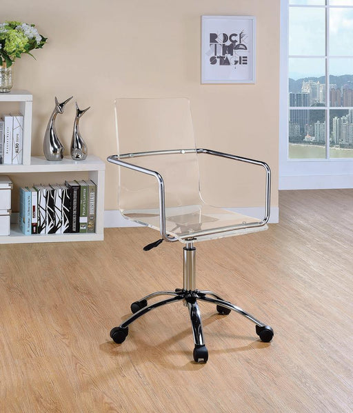 G801436 Contemporary Clear Acrylic Office Chair image
