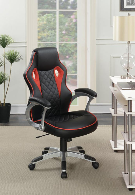 G801497 Contemporary Black/Red-High Back Office Chair image