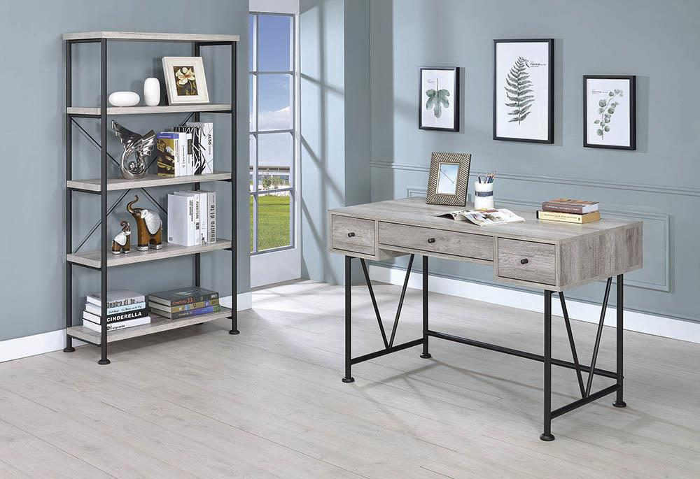Guthrie Industrial Grey Driftwood Writing Desk image