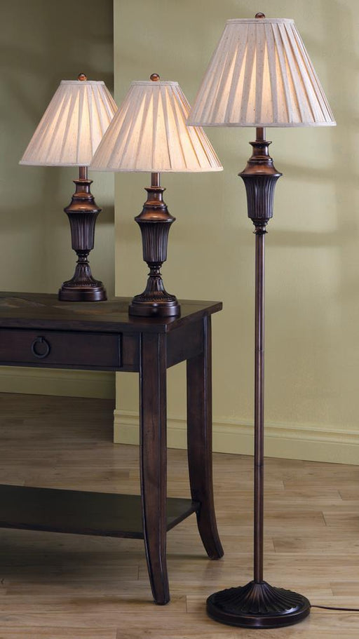 Traditional Dark Brown Lamp image