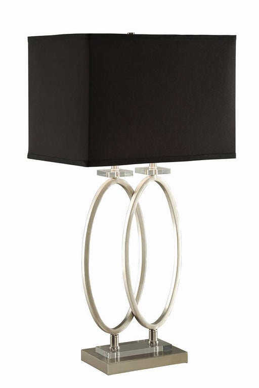 Transitional Nickel and Black Accent Lamp image
