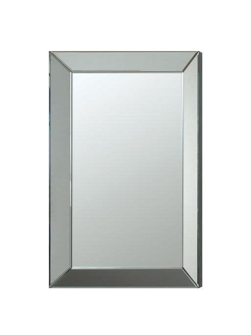 Transitional Rectangle Accent Mirror image