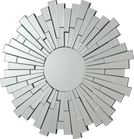 Transitional Sunburst Frameless Mirror image
