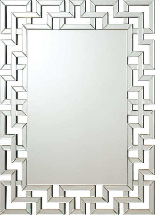 Transitional Frameless Greek Key Mirror image