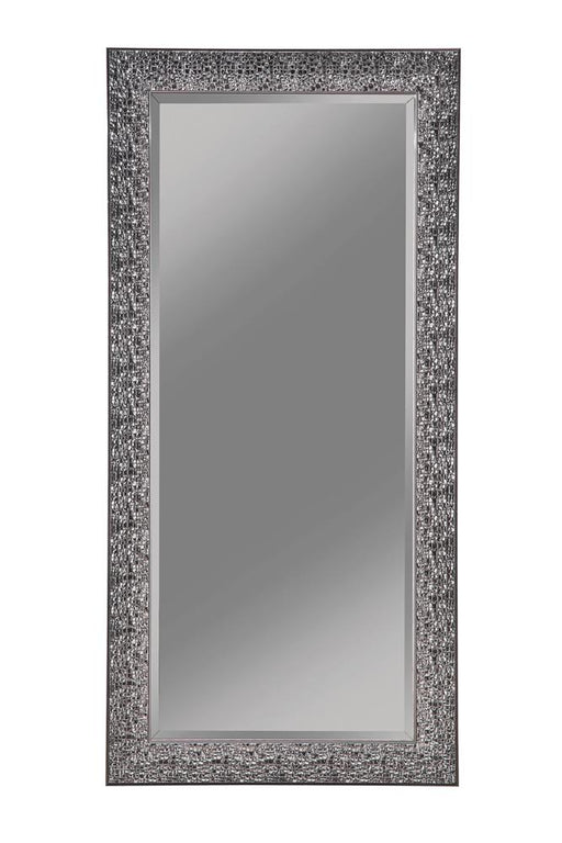 Transitional Black Mosaic Rectangular Mirror image