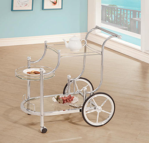 Traditional Chrome Serving Cart image