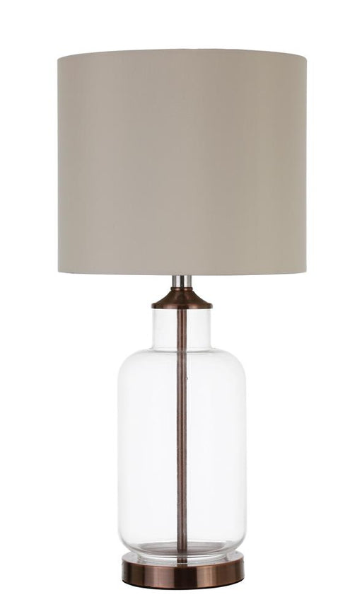 Transitional Clear and Bronze Table Lamp image