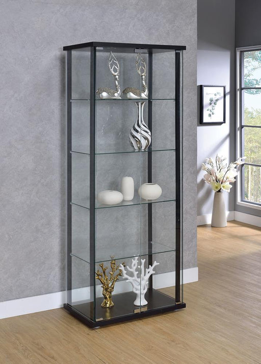 G950170 Contemporary Black Curio Cabinet image