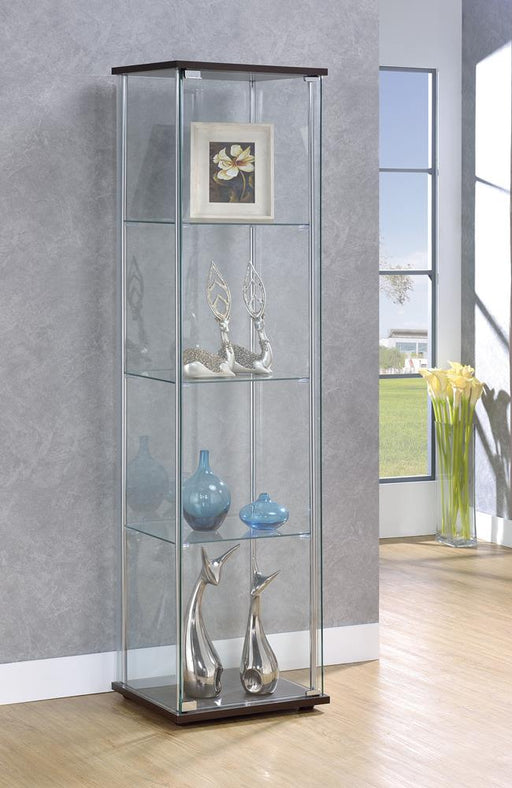 Cappuccino Curio Cabinet with Four Shelves image