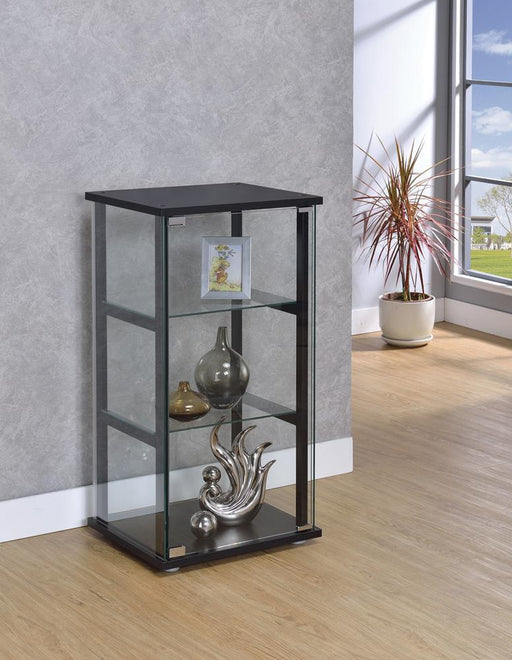 G950179 Contemporary Black and Glass Curio Cabinet image