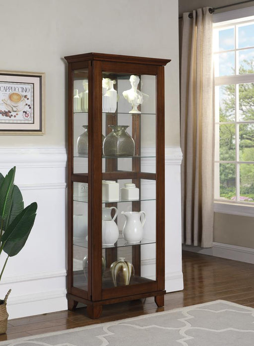 G950188 Casual Warm Brown Curio Cabinet image