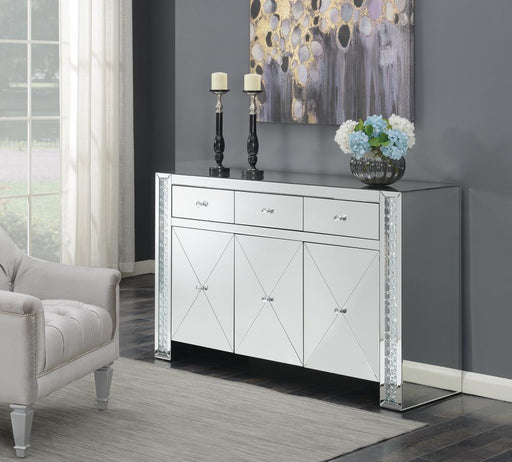 G951100 Contemporary Silver and Black Cabinet image