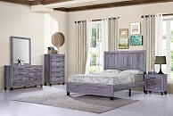 Gray King Bed