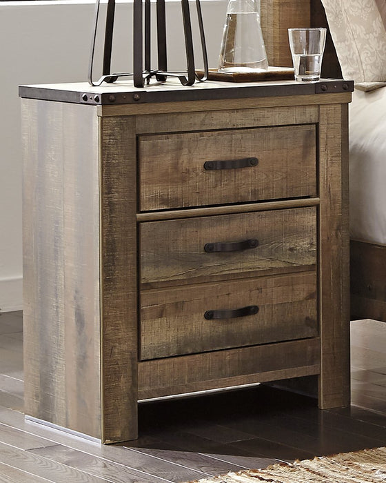 Trinell Signature Design by Ashley Two Drawer Nightstand