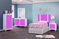 White & Purple Dresser