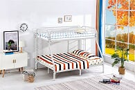 T/F White Metal Bunk Bed