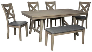 Aldwin Signature Design Dining Table 6-Piece Dinning Room Package