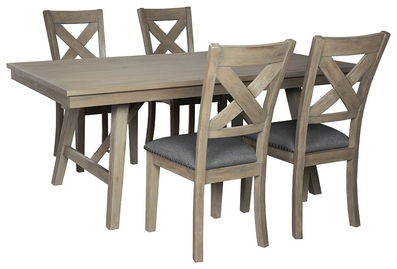 Aldwin Signature Design Dining Table 5-Piece Dining Room Package