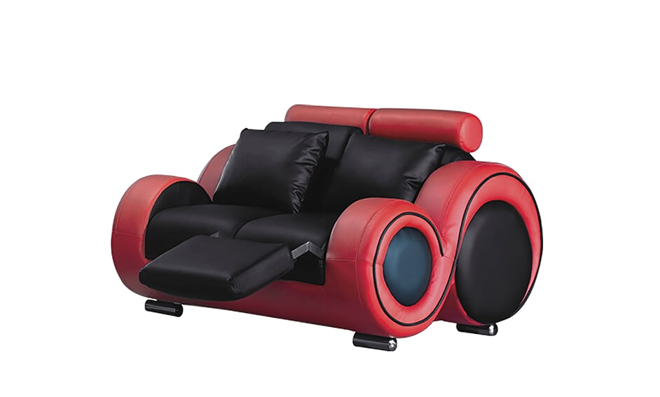 Black & Red Loveseat