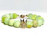 Celadon Flower Jade Crown Bracelet